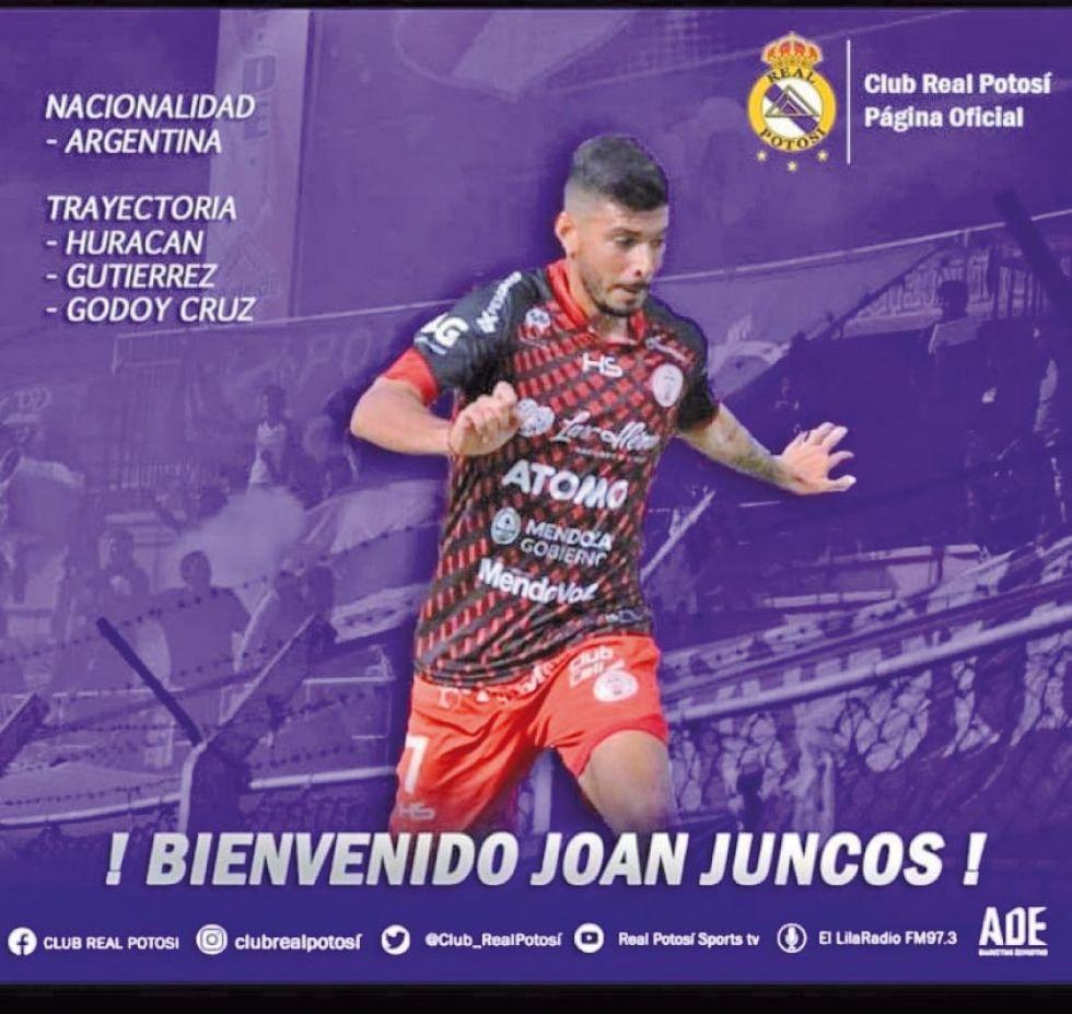 El atacante argentino Joan Juncos.
