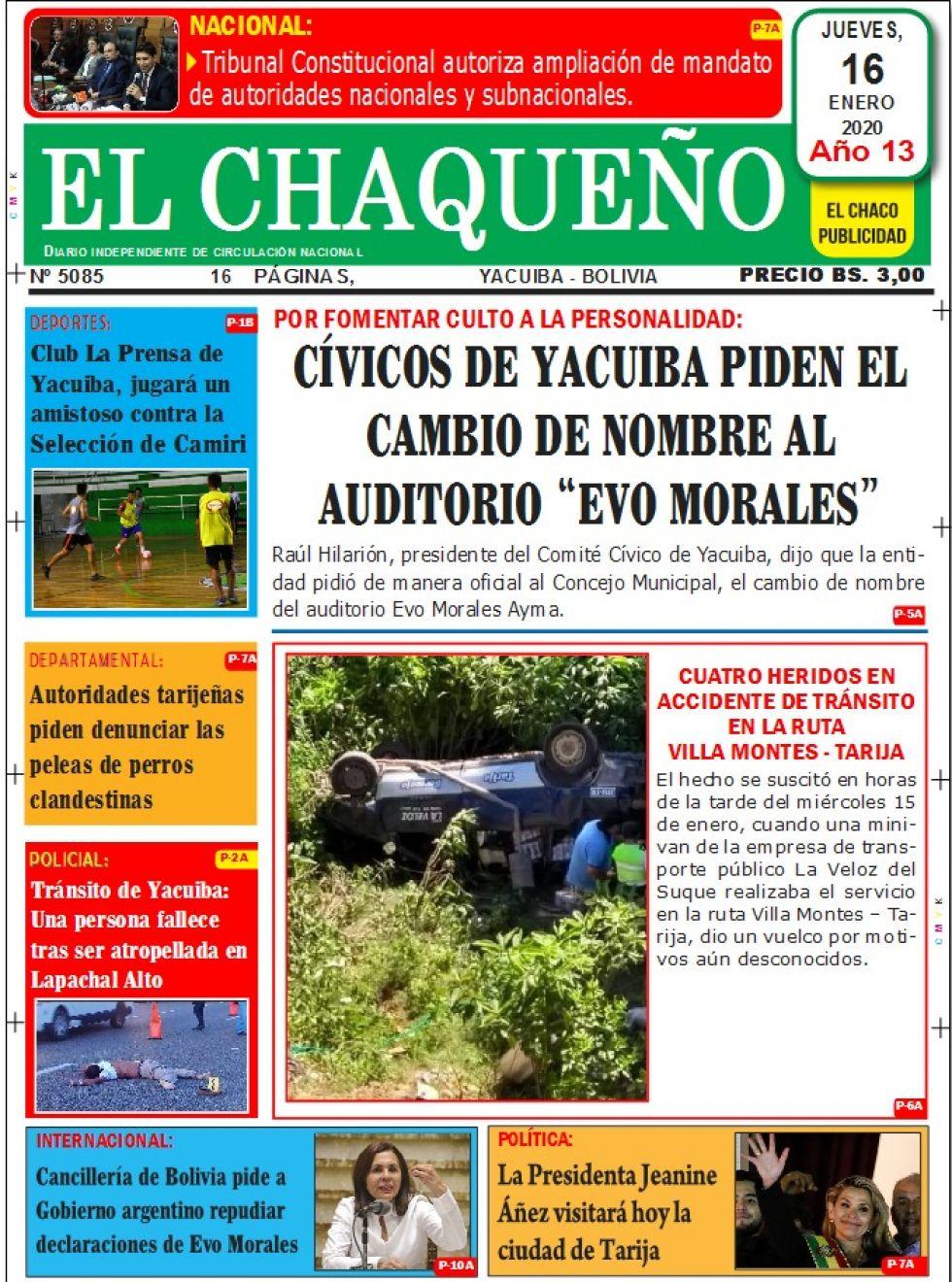El Chaqueño, Tarija.