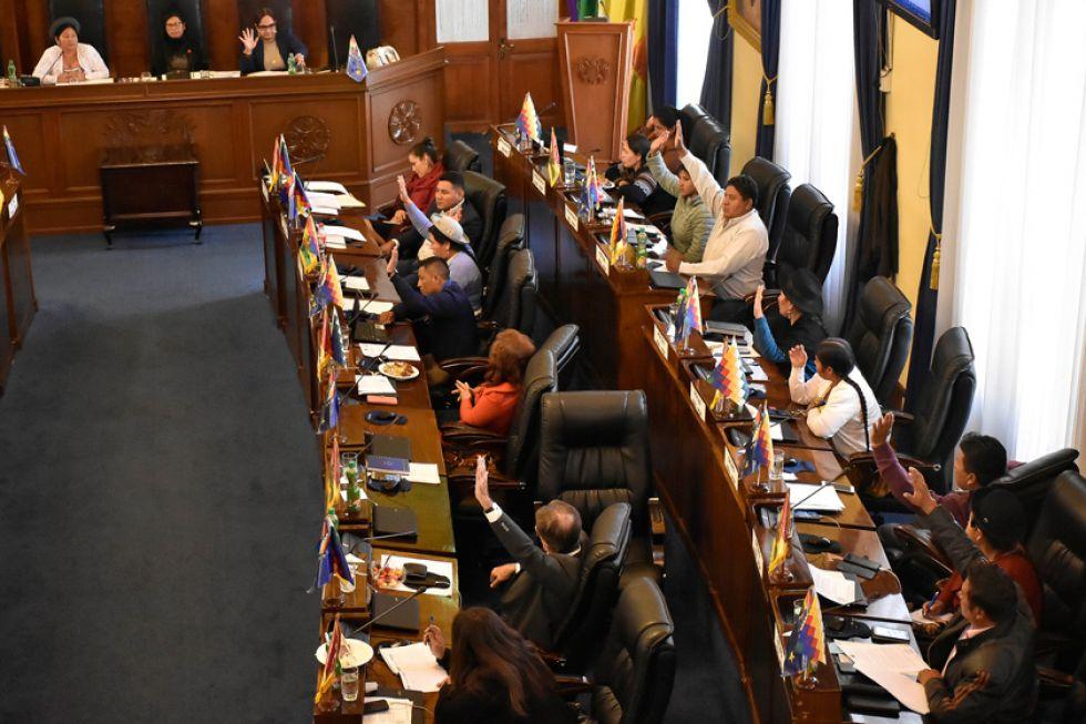 El Senado aprobó ayer el proyecto de Ley de Ampliación de Mandato
