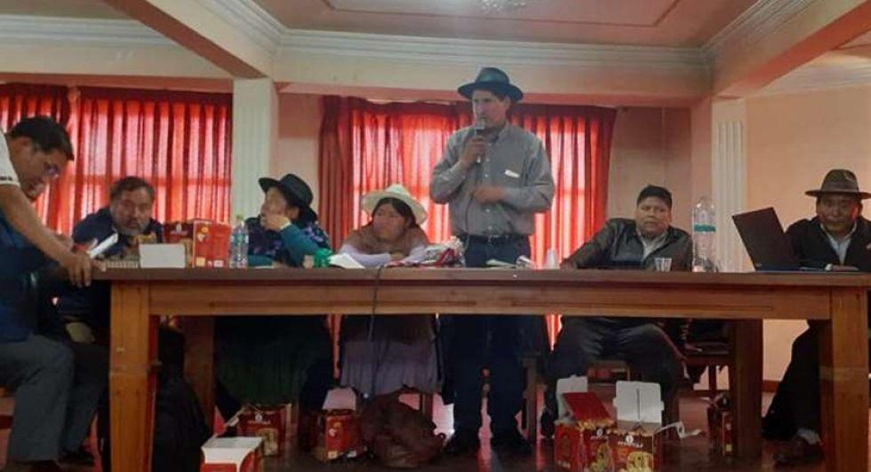Eligen a Choquehuanca y Andrónico como los candidatos del MAS