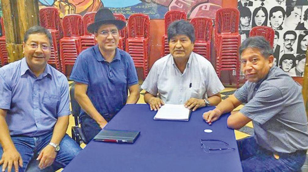 Luis Arce Catacora, Diego Pary, Evo Morales y David Choquehuanca.