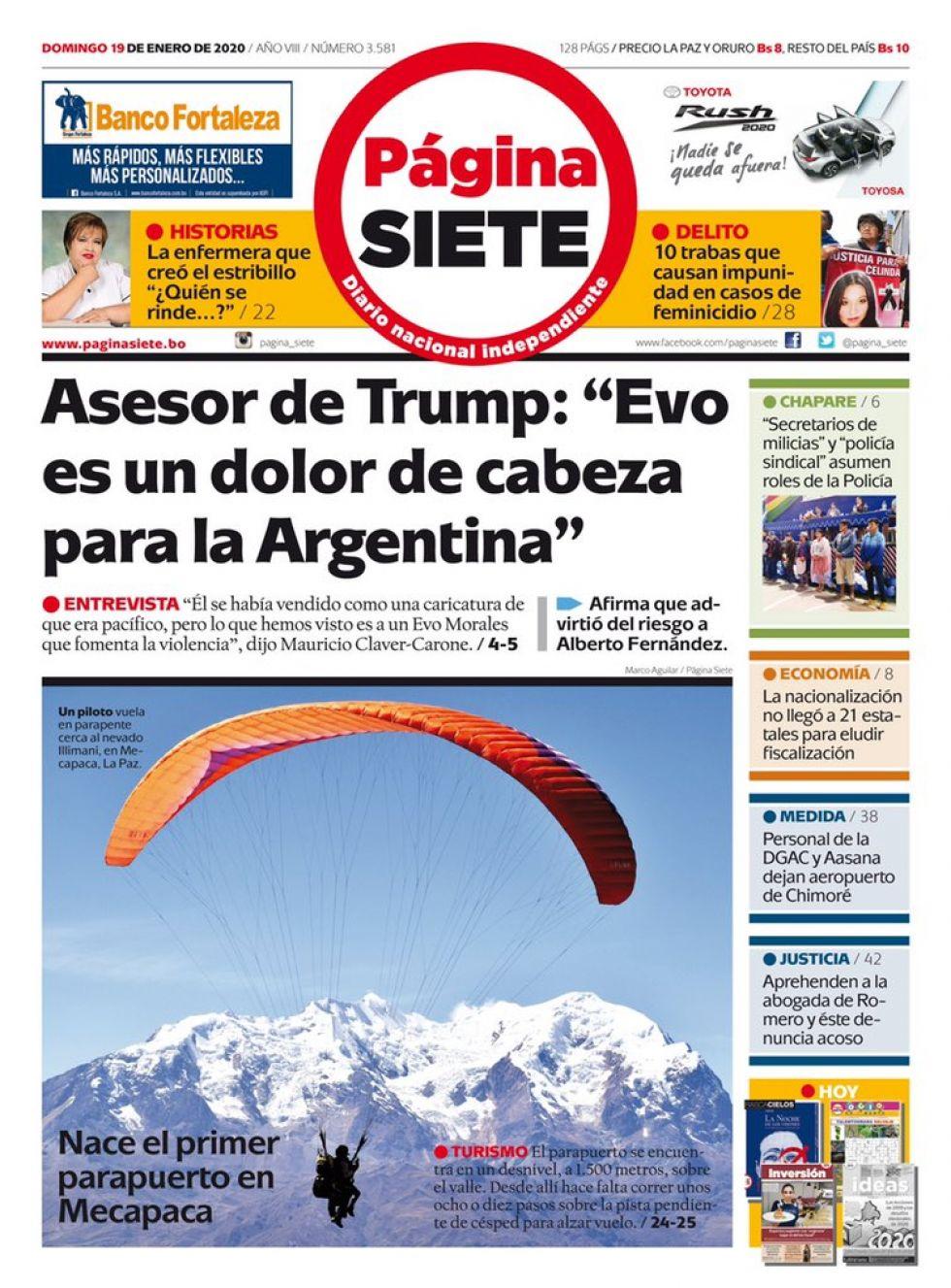 Página Siete, La Paz.