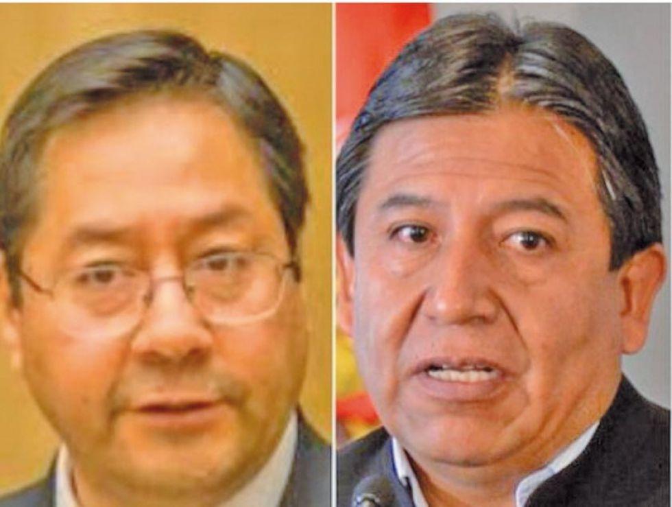 Luis Arce y David Choquehuanca son los candidatos del MAS