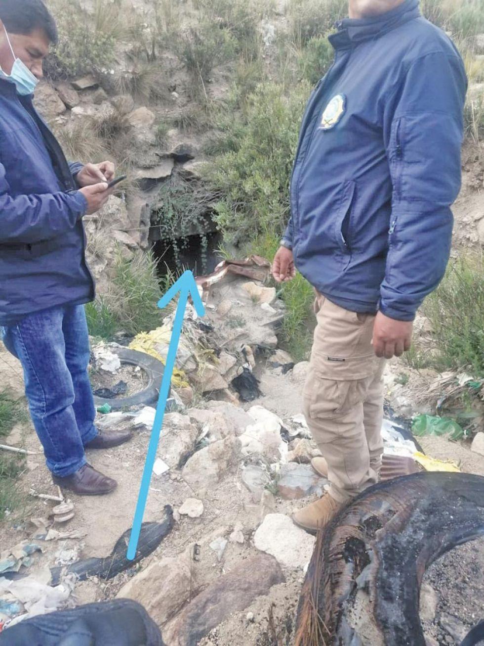 Aquí fueron encontrados los cadáveres.