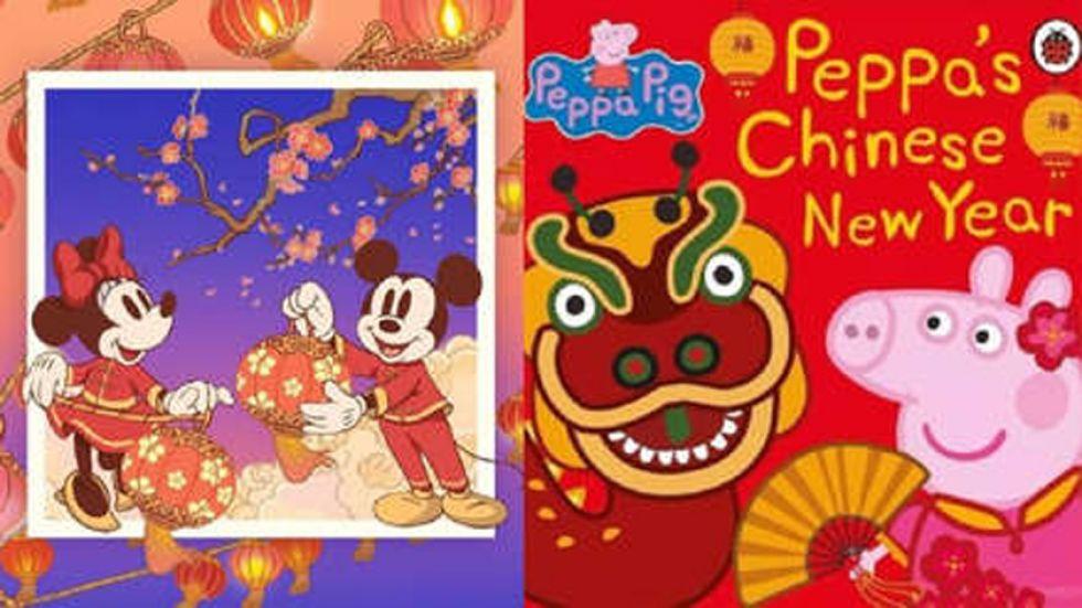Peppa Pig le cedió su trono a Mickey Mouse en el festejo del Año Nuevo chino