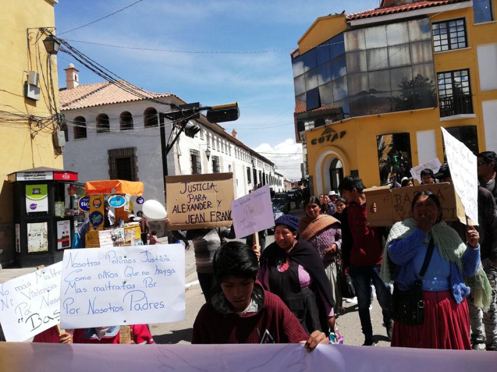 La manifestación llegó al centro de la ciudad.