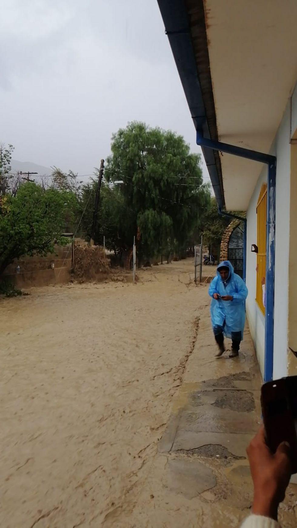 Llovió torrencialmente.