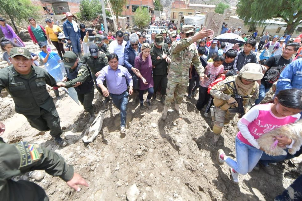 LLegó hasta el lugar afectado por la riada.