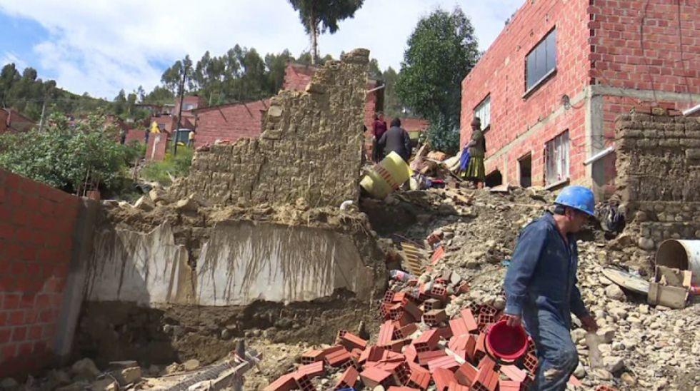 Achocalla y otras localidades del país sufrieron los fenómenos climáticos.