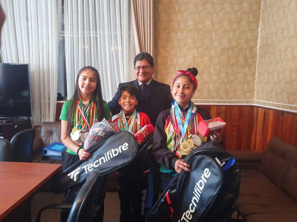 Los deportistas potosinos son raquea número 1 de Bolivia.