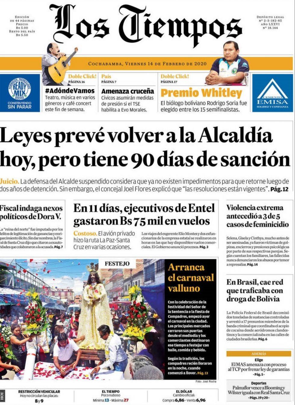 Los Tiempos, Cochabamba.