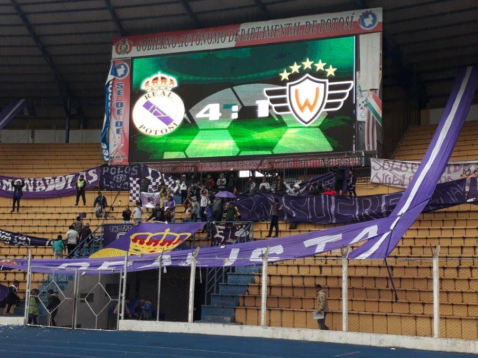 Real Potosí golea 4-1 a Wilstermann