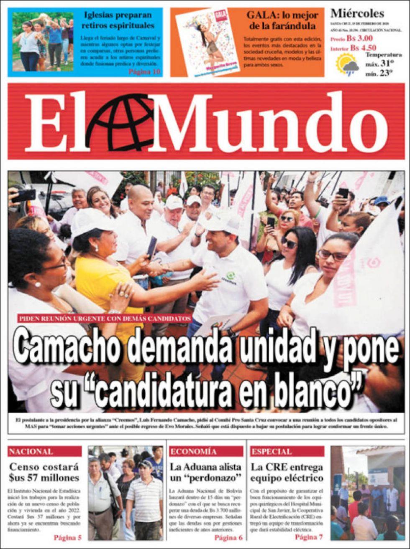 El Mundo, Santa Cruz.