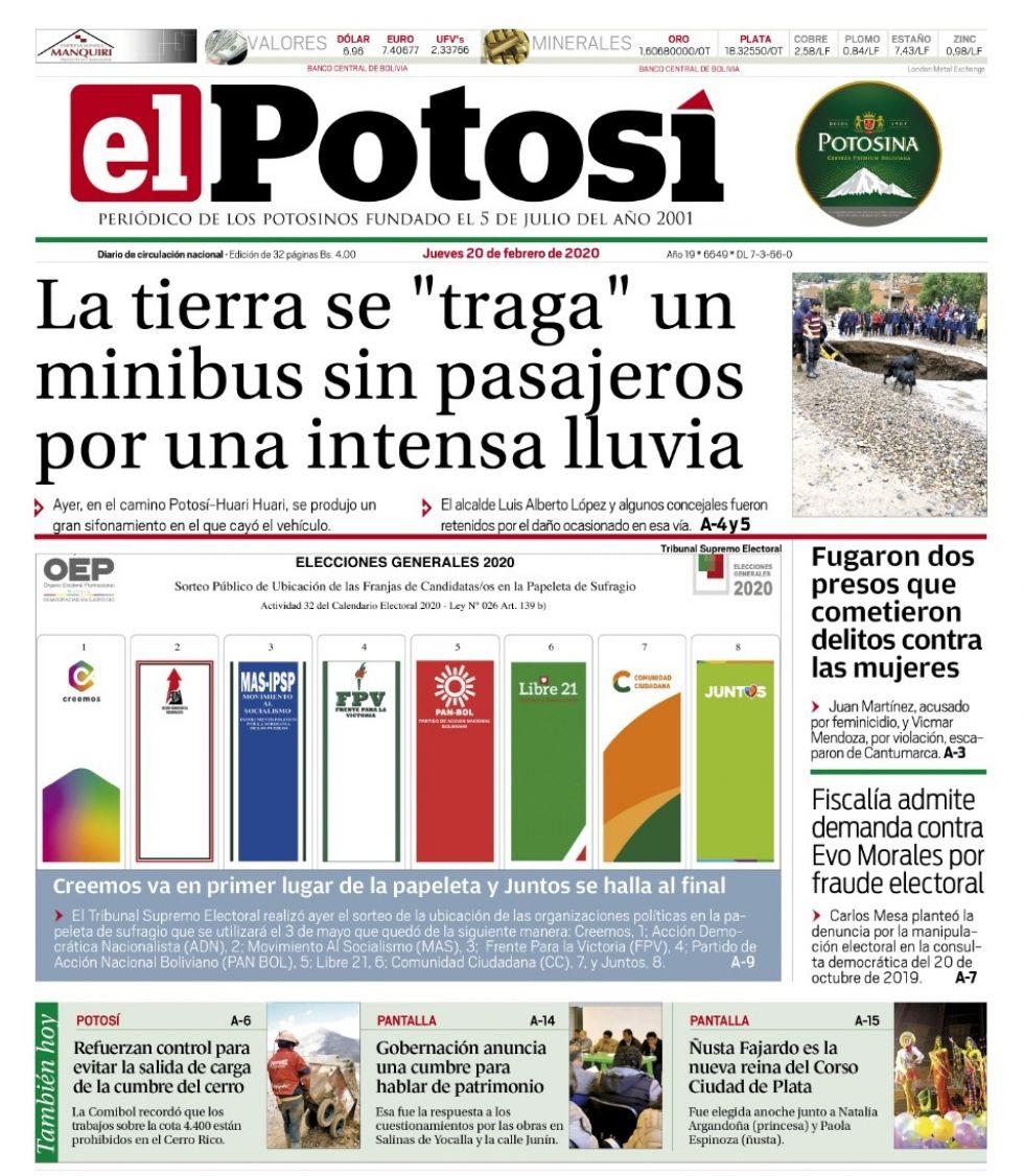 Evo sigue ocupando las primeras páginas de los diarios bolivianos