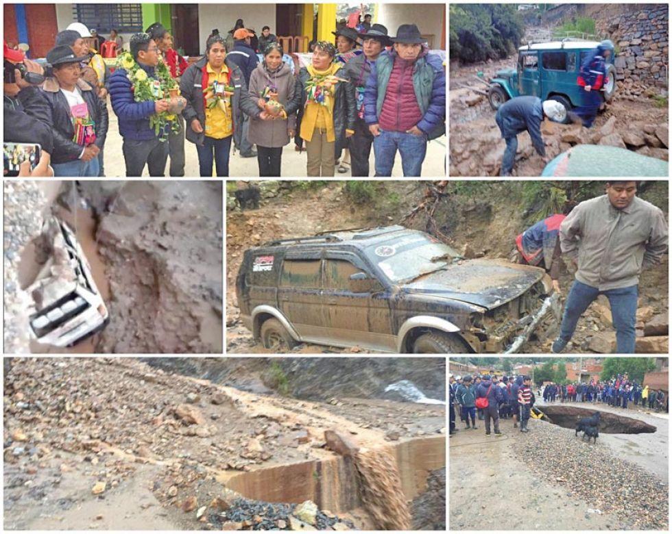 Alcalde y concejales quedaron aislados por riada y derrumbes