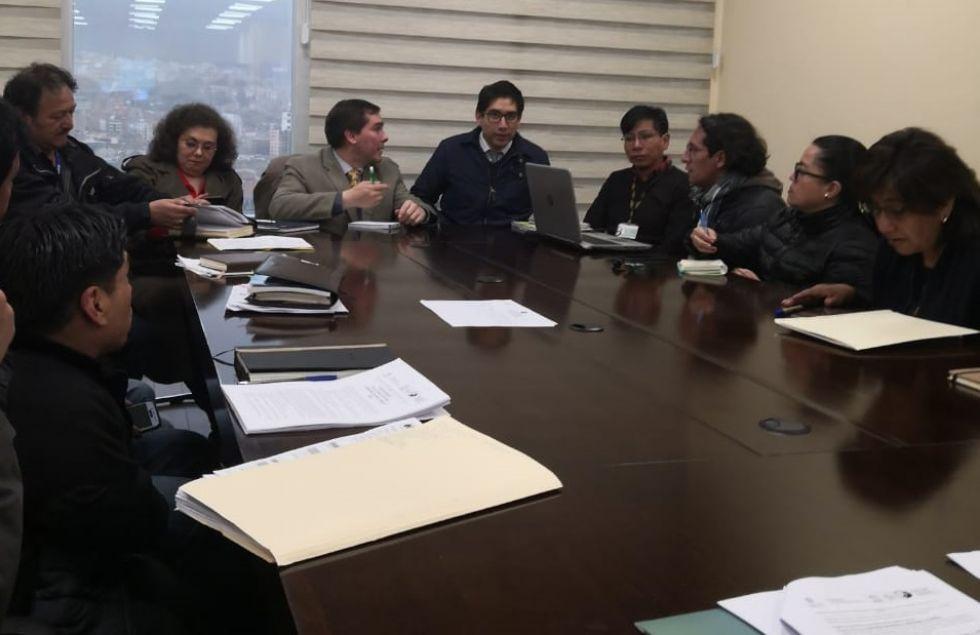 La reunión en el Ministerio de Culturas.