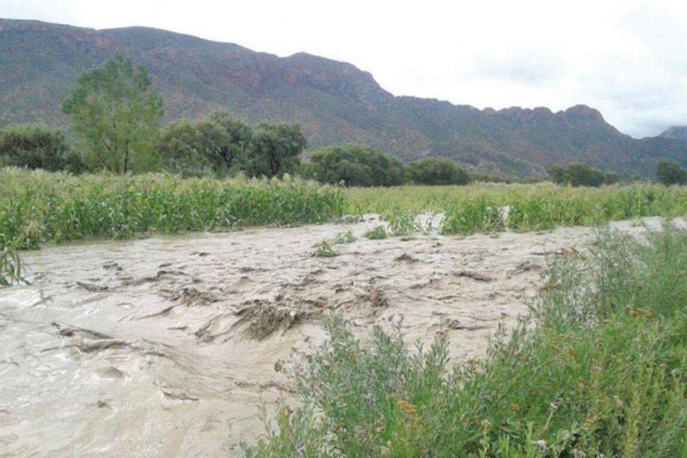 La crecida de los ríos es frecuente.