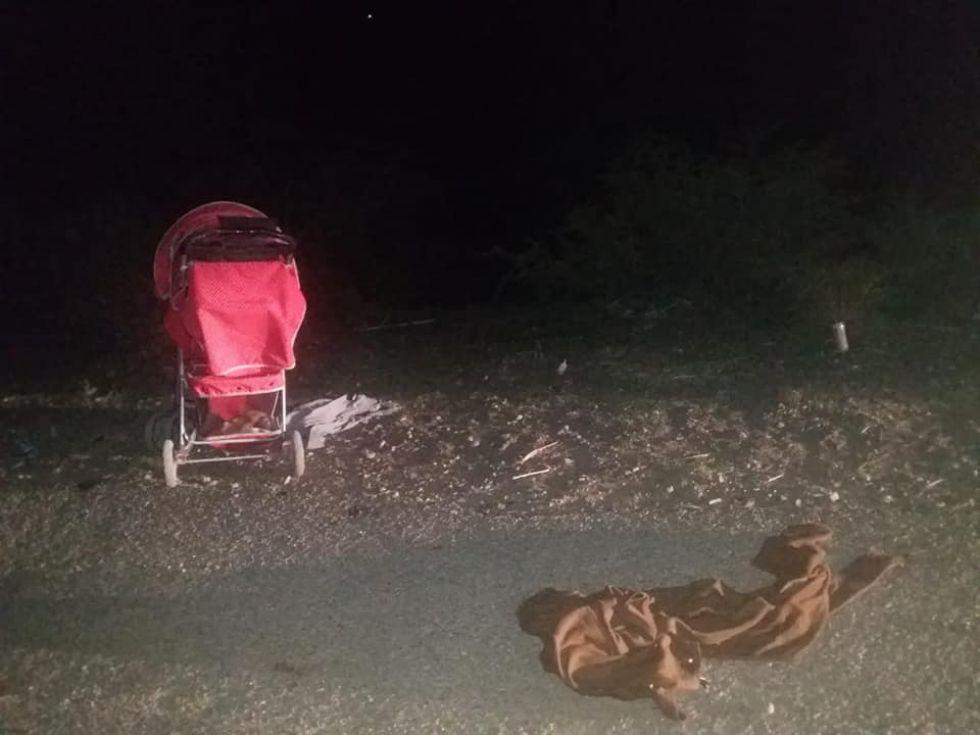 Bebita de un año murió atropellada en el camino