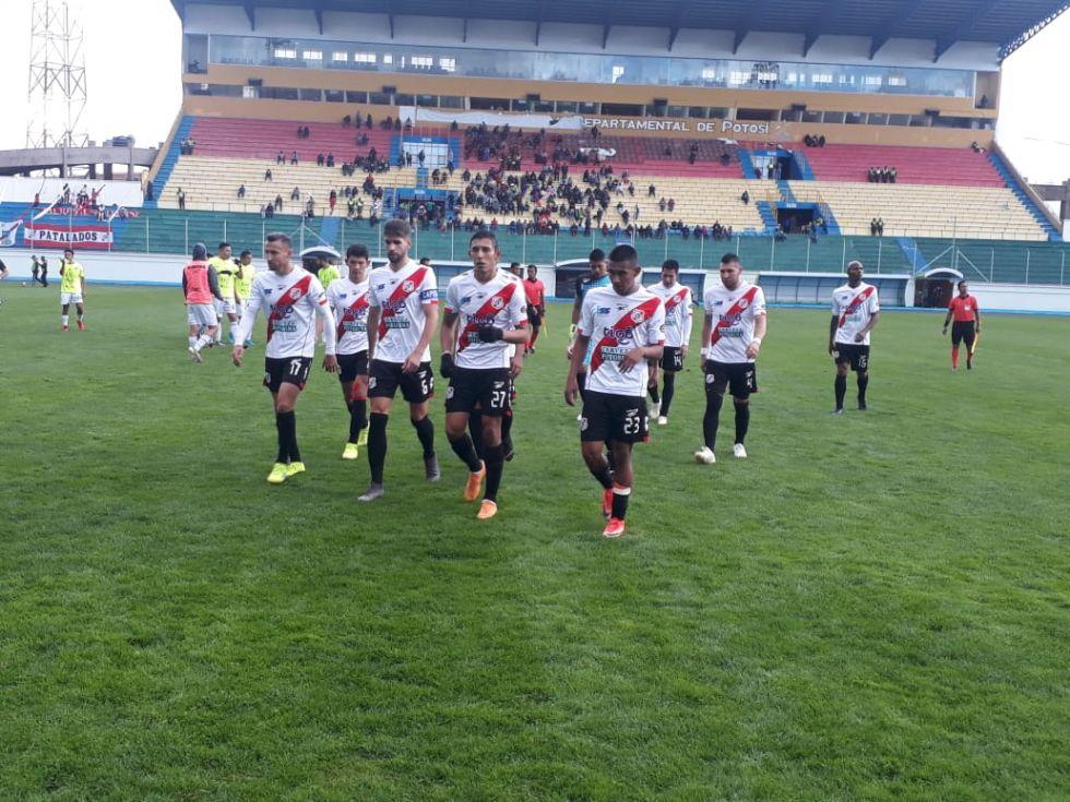 El partido se jugó en Potosí.