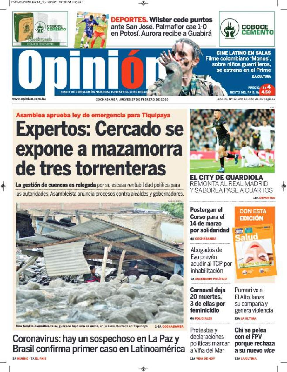 Opinión, Cochabamba.