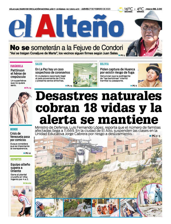 El Alteño, El Alto, La Paz.
