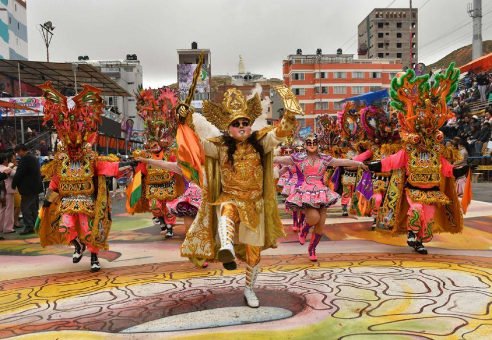 El carnaval de Oruro solo habría tenido una merma del 3,3 por ciento.