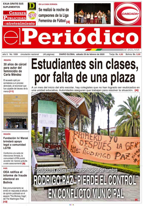 El Periódico, Tarija.