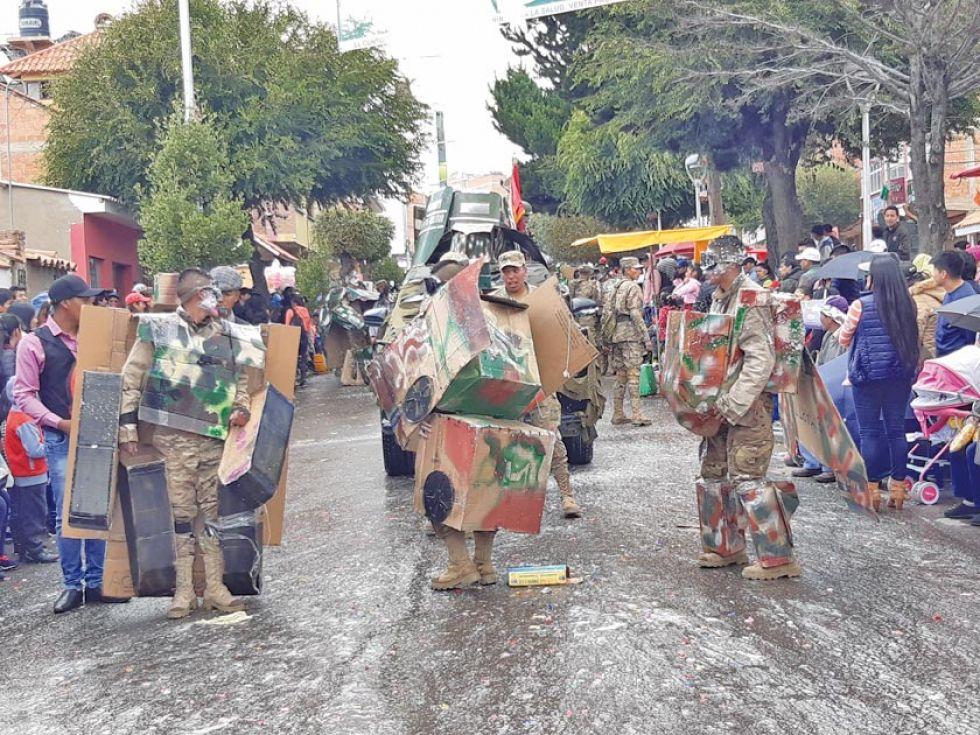 """Los """"transformers"""" del Regimiento Pérez III de Infantería."""