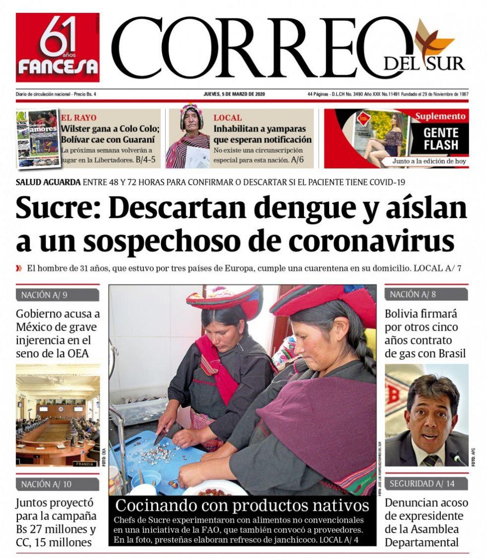Correo del Sur, Sucre.