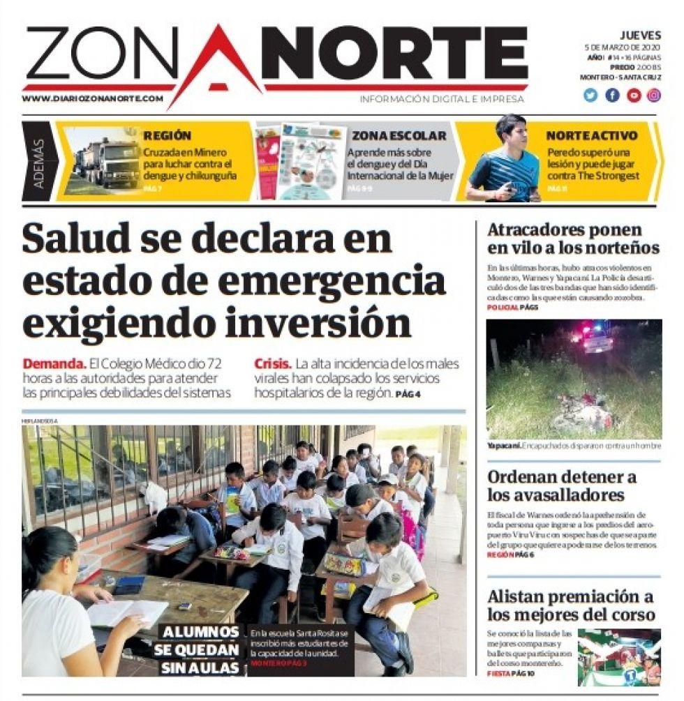 Zona Norte, de Santa Cruz.