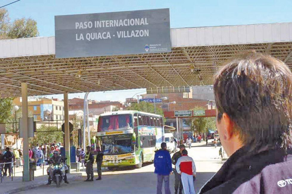 Este es el paso fronterizo entre Bolivia y Argentina.