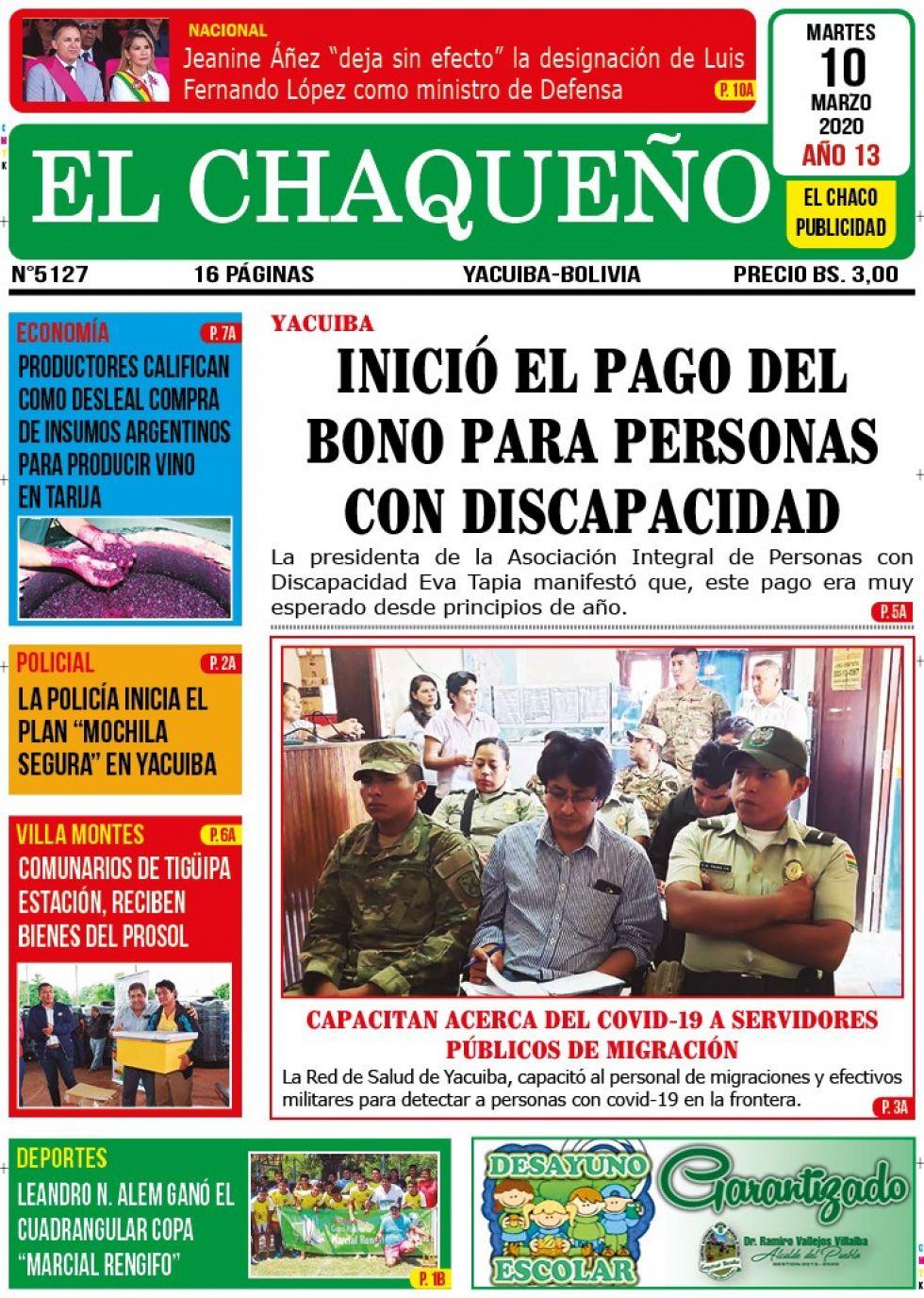 El Chaqueño, Yacuiba, Tarija.