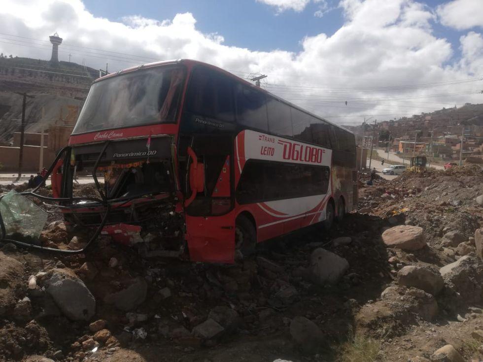 El motorizado sufrió el incidente en el ingreso a la ciudad.