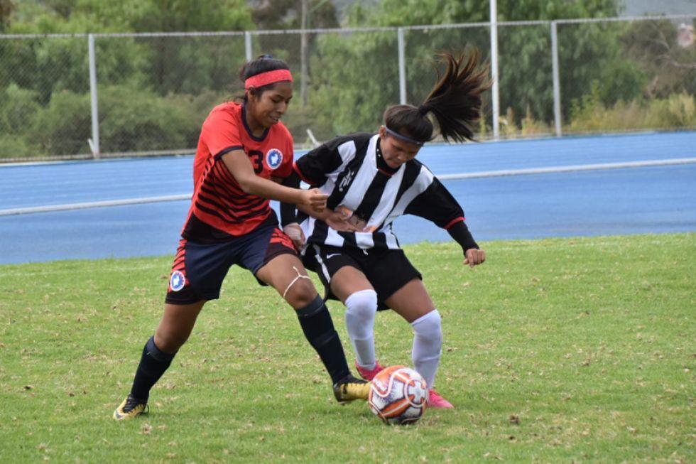 El equipo potosino en damas empató 0-0 ante las vallunas.