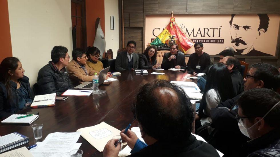 La reunión realizada hoy en La Paz.