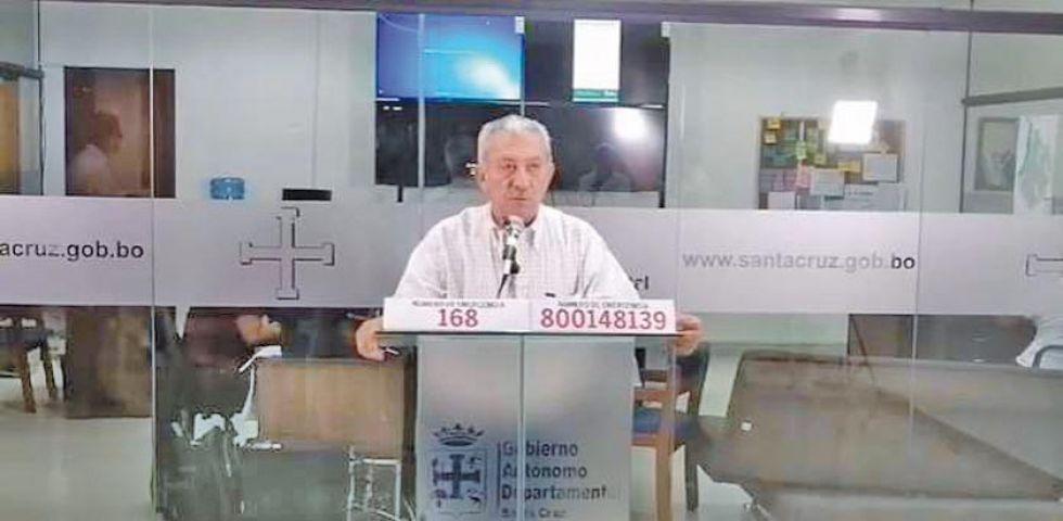El secretario de salud de la Gobernación de Santa Cruz, Óscar Urenda.