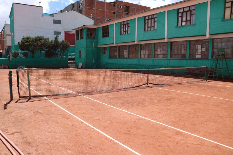 Una de las canchas del Potosí Tenis Club.