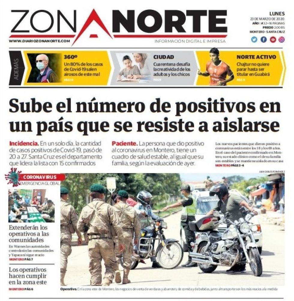 Zona Norte, Montero, Santa Cruz.