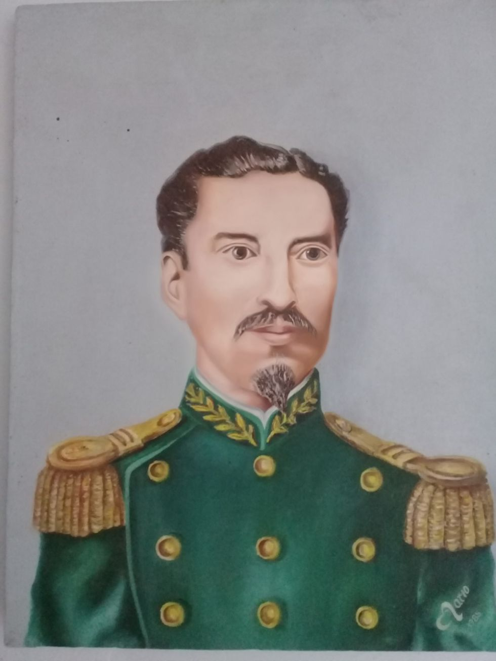 Lienzo del coronel en el museo en Talina.