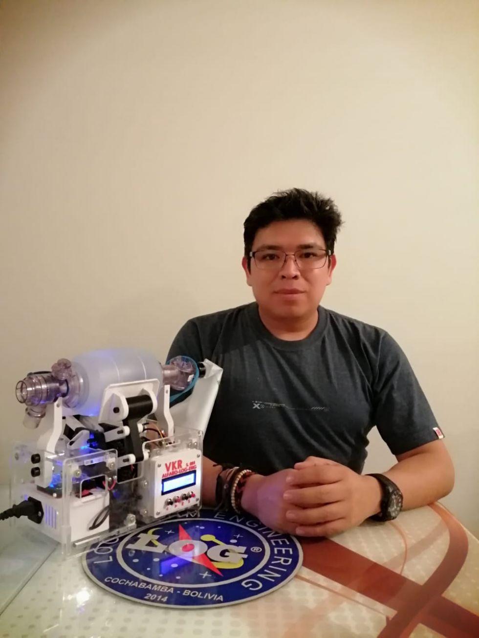 Ingeniero potosino trabaja en el desarrollo de respirador para pacientes con coronavirus