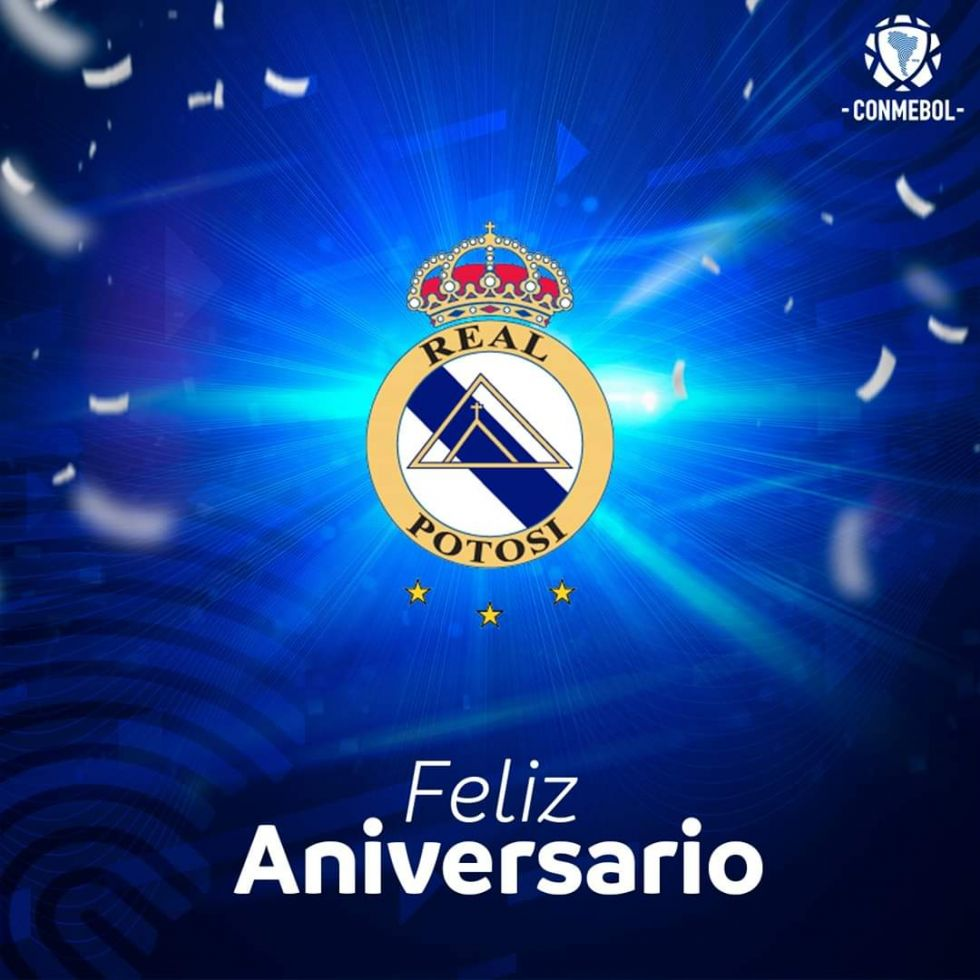 Conmebol felicita al Club Real Potosí en su 32 aniversario