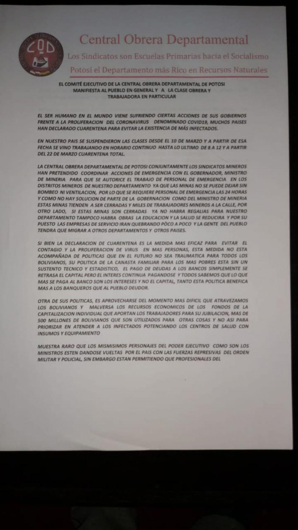 COD exige autorización para trabajos de emergencia