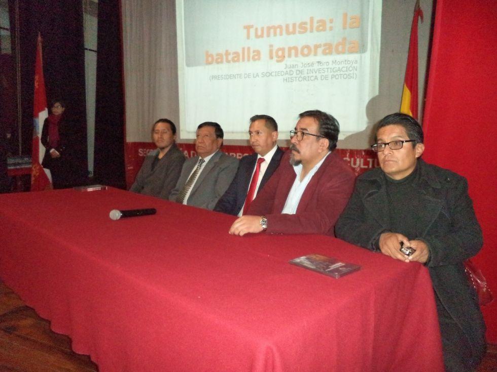 Coloquio sobrer la Batalla de Tumusla realizado en Potosí en abril de 2019.