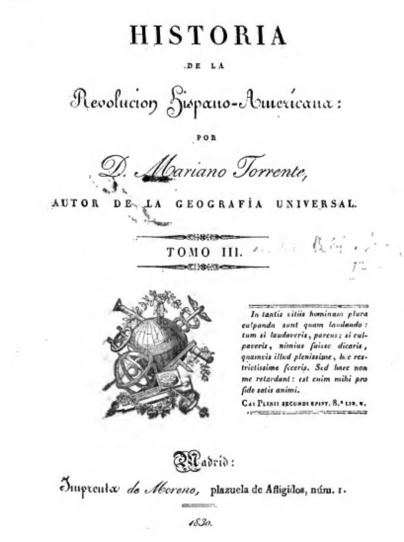Tapa de la obra de Torrente que se refiere a la Batalla de Tumusla.