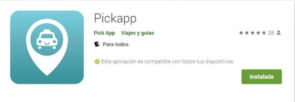 La aplicación está en la tienda de Google
