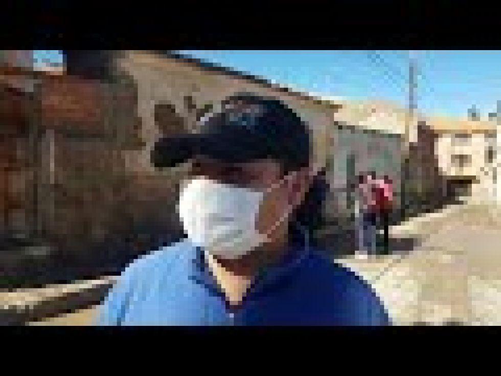 Desinfectaron las zonas de San Benito y Huachacalla