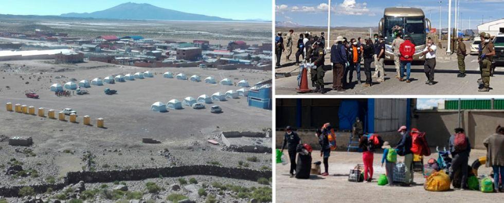 El campamento será resguardado por miembros de las Fuerzas Armadas. En el lugar existen 13 consultorios médicos y un espacio especial para las mujeres en gestación.