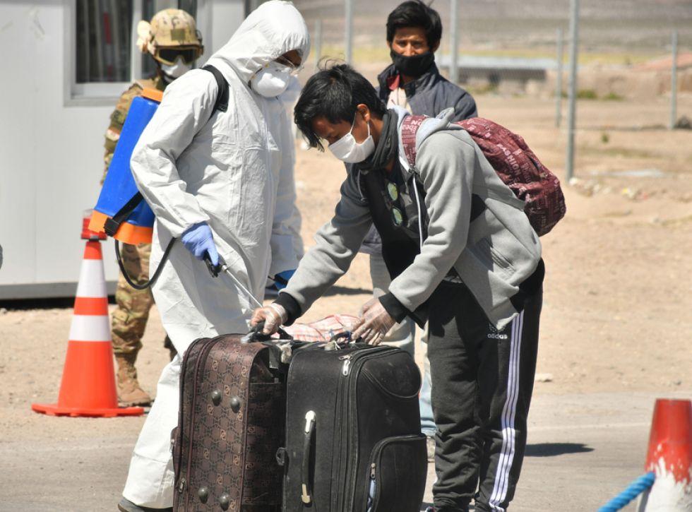 Casi 500 repatriados llegaron de Chile y se quedan en cuarentena