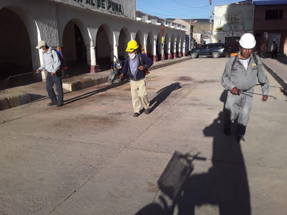 Estuvieron en las calles del centro del municipio.