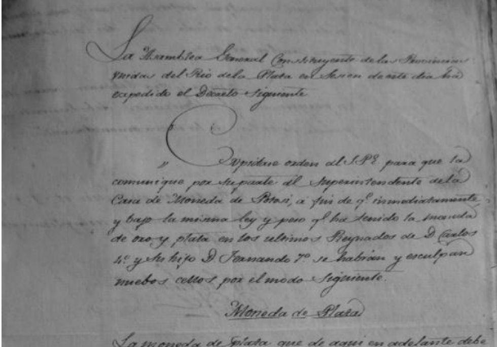 Decreto del 13 de abril de 1813. Luciano Pezzano